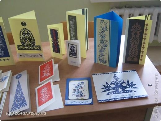 Делала открытки к Пасхе в росписи и вытинанке фото 6