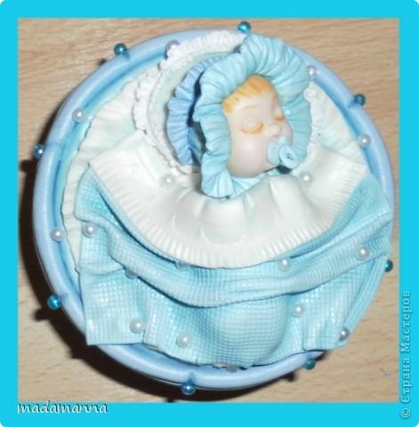 Декор предметов Мастер-класс Поделка изделие Лепка Спящий малыш+МК Банки стеклянные Фарфор холодный фото 1