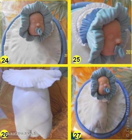 Декор предметов Мастер-класс Поделка изделие Лепка Спящий малыш+МК Банки стеклянные Фарфор холодный фото 9