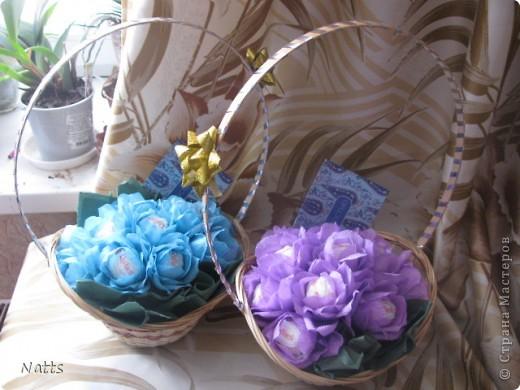 Сладкие корзиночки на выпускной в детском саду для наших воспитателей)) фото 1