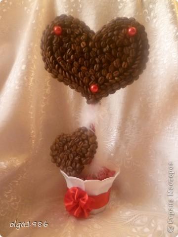 толстый картон термопистолет зёрна кофе гипс бусины декоративная крошка лента пух плочка гипс горшочек фото 1