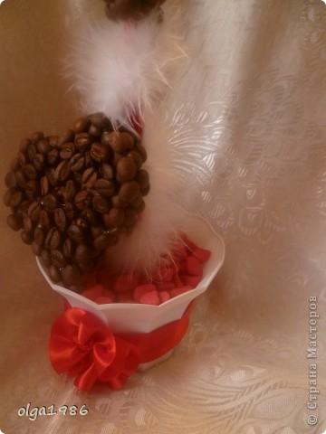 толстый картон термопистолет зёрна кофе гипс бусины декоративная крошка лента пух плочка гипс горшочек фото 2