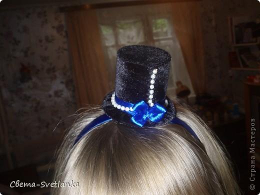 Ободок-шляпка фото 1