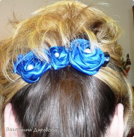 Зохотелось что-то новенькое в волосы,вот и получилась такая заколочка с замершими розами фото 1