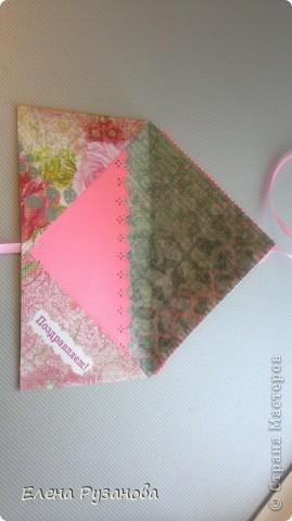 Вот такой получился конвертик для денежного подарка фото 2