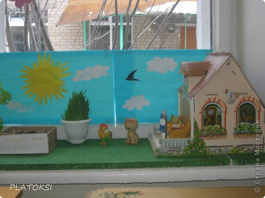 Наш веселый огород делали вместе с детьми ясельного возраста, а началось все с простой посадки лука. Вот, что у нас получилось. фото 3