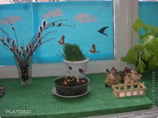 Наш веселый огород делали вместе с детьми ясельного возраста, а началось все с простой посадки лука. Вот, что у нас получилось. фото 4