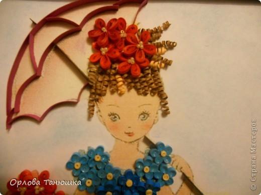 Давно хотела сделать картину с незабудками, но хотелось что-то необычное, а не букет этих прекрасных нежных цветочков. И вот нашла винтажную открытку, по которой и родилась моя работа. Очень надеюсь, что я её не испортила. фото 2