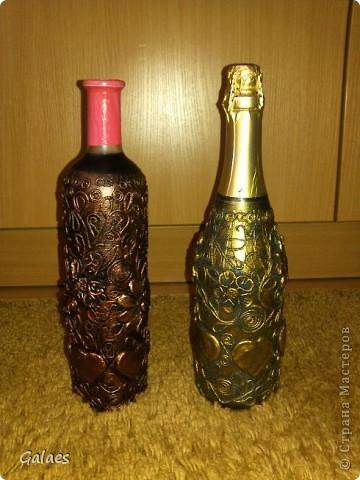 Еще бутылочки, еще пейп-арт фото 1