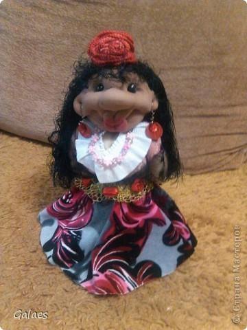 Пыталась сделать кукл дочке. получилась цыганка! (Воспитателю на выпускной.) фото 1