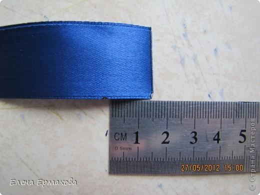 Диаметр 15 см. Изготавливаем из ленты шириной 2,5 см. фото 3