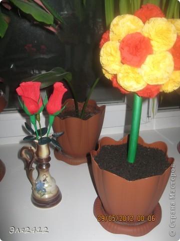Розы из бумаги фото 4