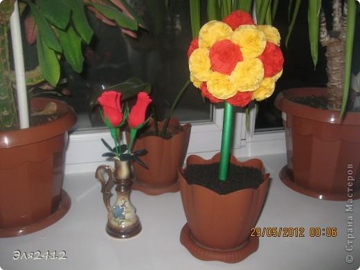 Розы из бумаги фото 3