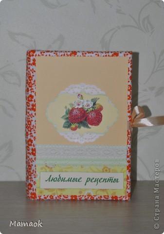 Вот такую кулинарную книгу я сделала для одной замечательной девушки. Пришлось с ней повозиться не один вечер - но результатом я довольна и надеюсь, что будущей обладательнице книга тоже понравится )). Книга уже отправилась в славный город Воронеж! фото 1