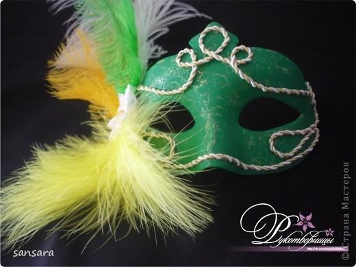 """Маска """"Нос турка"""", основа - папье-маше, декор - акриловые краски, кракелюр, пастель, тесьма фото 4"""