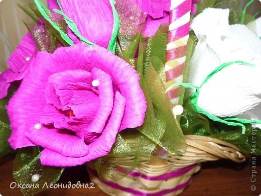 """Это моя первая сладкая корзинка """"Бело- красное настроение"""" фото 4"""