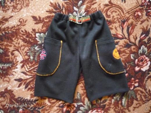 Шортики в садик из теплой трикотажной ткани. фото 1