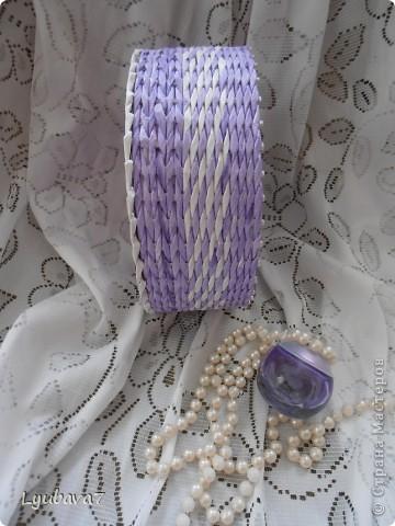 Всем привет!!! В продолжение цветочной темы (http://stranamasterov.ru/node/312886, http://stranamasterov.ru/node/314823), сплела сиреневую шкатулку в подарок.  фото 4