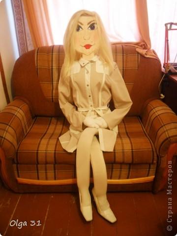 Вот такую куклу, размером в человеческий рост я сделала на дачу. Пусть ворон отпугивает))))) фото 2