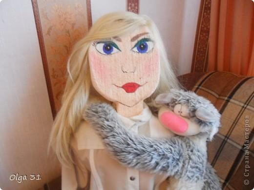 Вот такую куклу, размером в человеческий рост я сделала на дачу. Пусть ворон отпугивает))))) фото 1