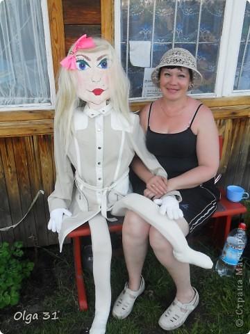 Вот такую куклу, размером в человеческий рост я сделала на дачу. Пусть ворон отпугивает))))) фото 4