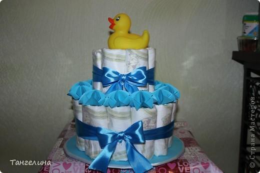 """Вот такой вот """"тортик"""" я сделала с любовью, для новорожденного малыша наших друзей!!!!!! фото 2"""