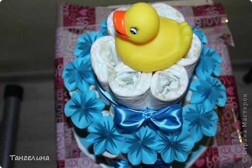 """Вот такой вот """"тортик"""" я сделала с любовью, для новорожденного малыша наших друзей!!!!!! фото 3"""