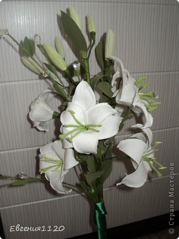 Букет с лилиями фото 2