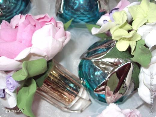 минибукетики в крышках от парфюма :-) фото 2