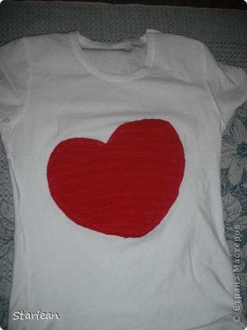 футболка с сердечком фото 6