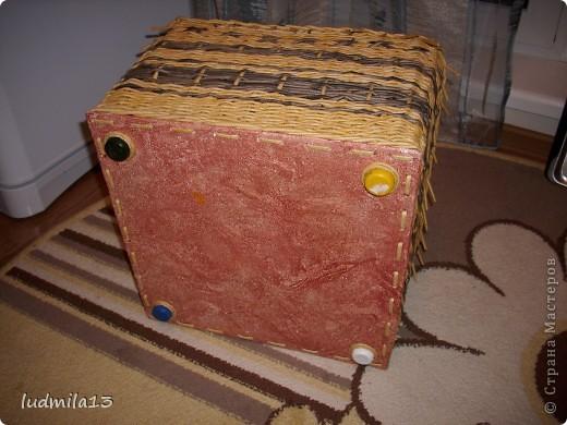 Сплелись две коробки для дочери в командор. Спасибо Тане Павловне!!!!!http://stranamasterov.ru/node/303865 фото 4