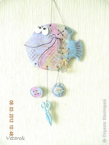Рыбка Цветочек она сделана в  подарок на 8 марта. фото 2