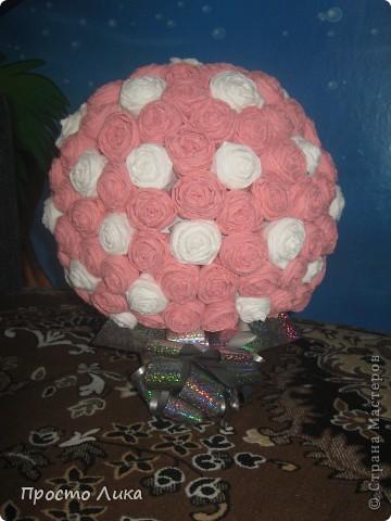 Цветочный шар в подарок для сестры мужа фото 1