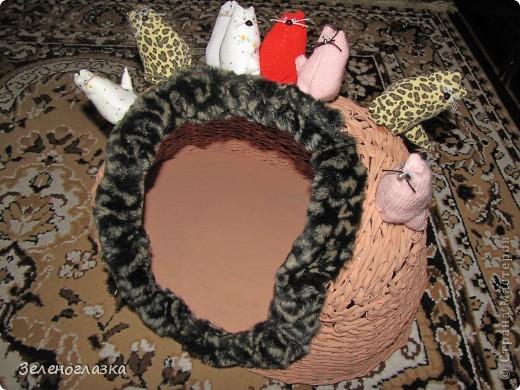 на домик приклеили котят, пошитых из квадрата ткани, эту идею слямзила у Трофимовой Елены фото 1