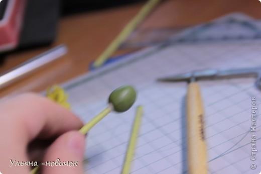 Что нам потребуется: глина желтая,зеленая, и светло-зеленая стек проволока папка или паста-машина стек с булькой маленькой пастель терпение и ... терпение)) фото 12