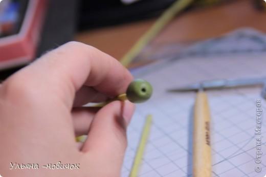 Что нам потребуется: глина желтая,зеленая, и светло-зеленая стек проволока папка или паста-машина стек с булькой маленькой пастель терпение и ... терпение)) фото 13
