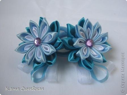 Сделала такие резиночки для девочек близняшек(их маме делала заколочку) Первая пара. фото 1