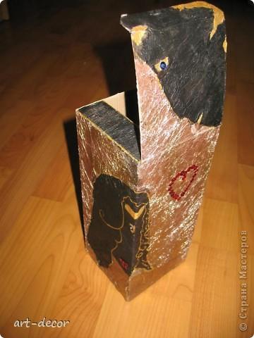 Красивая подарочная упаковка! Жила-была коробочка...куплена была с вазой, и вот решила я подруге на ДР сделать из нее упаковку для подарка. Пришлось немного преобразить.  фото 22