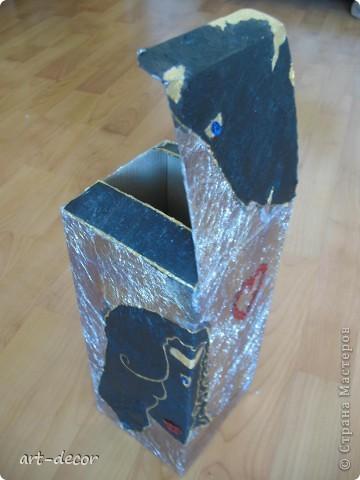 Красивая подарочная упаковка! Жила-была коробочка...куплена была с вазой, и вот решила я подруге на ДР сделать из нее упаковку для подарка. Пришлось немного преобразить.  фото 7