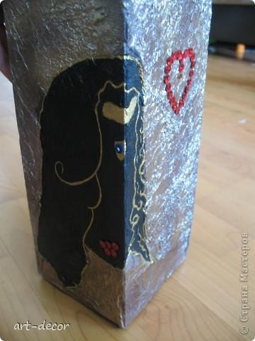 Красивая подарочная упаковка! Жила-была коробочка...куплена была с вазой, и вот решила я подруге на ДР сделать из нее упаковку для подарка. Пришлось немного преобразить.  фото 8