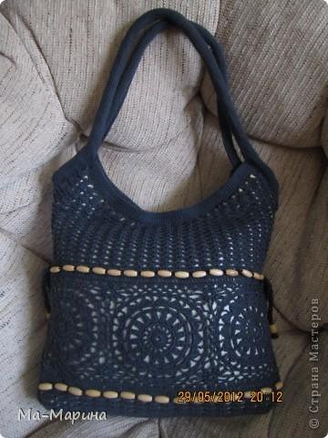 Насмотревшись на просторах интернета вязанных сумок,решила и я сотворить для себя красоту.И вылилась эта красота аж в три сумки. фото 4