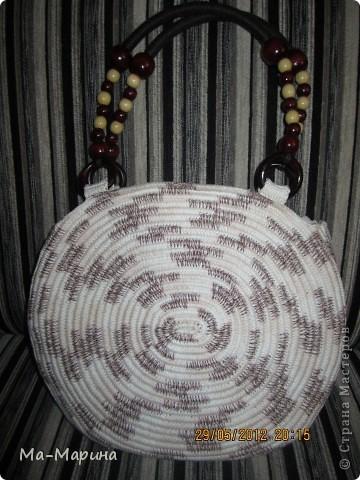Насмотревшись на просторах интернета вязанных сумок,решила и я сотворить для себя красоту.И вылилась эта красота аж в три сумки. фото 5