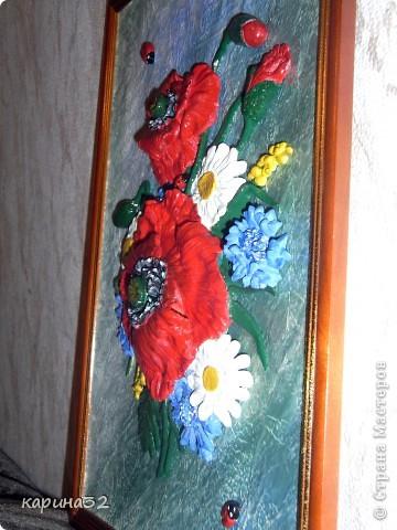 Решила попробывать сделать похожие  маки как у girasole2161 http://stranamasterov.ru/node/349319?c=favorite     Это первый мой опыт с цветами, много есть недочетов. Что получилось судить вам.... фото 6