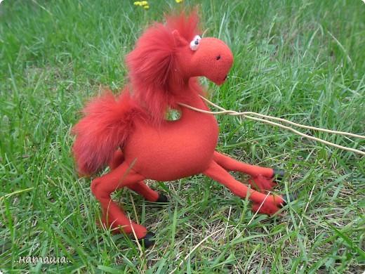 Игрушка Поделка изделие Шитьё Кони в яблоках кони серые   продолжение Проволока Ткань фото 7