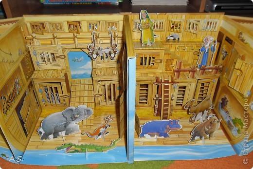 """Вот такую интересную книгу-игрушку приобрела своим детям. """"Чудесная лодка Ноя"""" Им очень понравилось, да и мне признаться, тоже. А ведь что-то подобное можно сделать и своими руками. Может кому из мастериц идея и пригодится.  фото 5"""