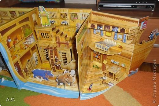 """Вот такую интересную книгу-игрушку приобрела своим детям. """"Чудесная лодка Ноя"""" Им очень понравилось, да и мне признаться, тоже. А ведь что-то подобное можно сделать и своими руками. Может кому из мастериц идея и пригодится.  фото 6"""