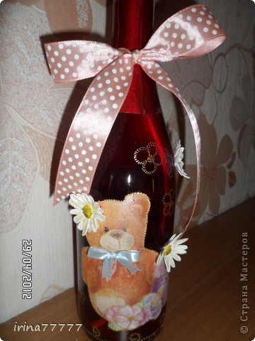 """Бутылка """"С рождением девочки"""" фото 1"""