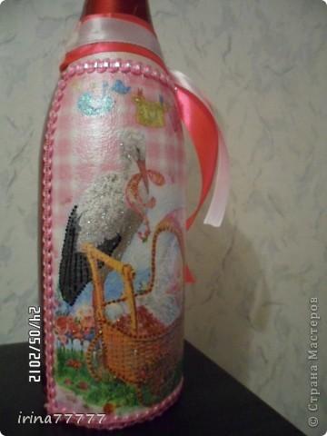 """Бутылка """"С рождением девочки"""" фото 4"""