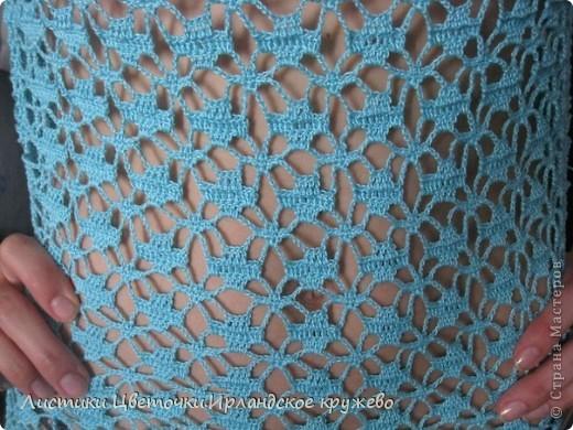 Голубое пляжное платье фото 2