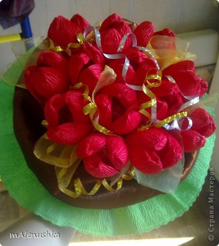 Тюльпаны учительнице. Первый заказ :) фото 1